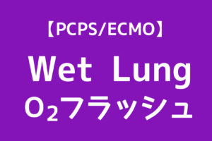 PCPS,ウェットラング,O2フラッシュ